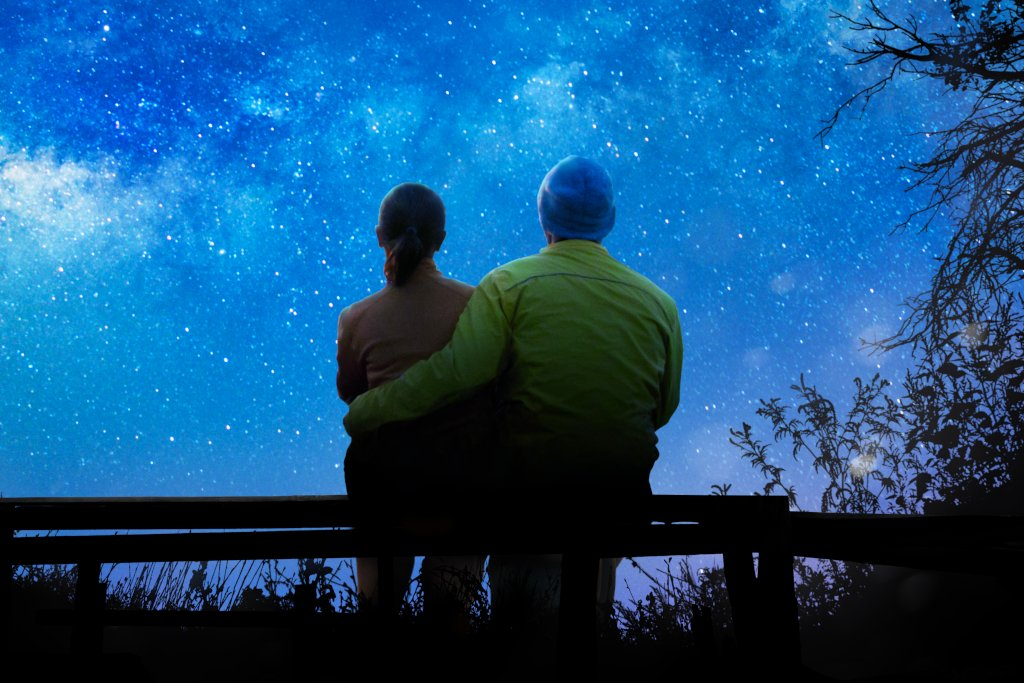 Older Couple Gazing at the Stars